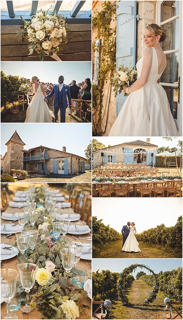 Romantic And Relaxing Vineyard Wedding In France French Wedding Style France Wedding French Wedding Style French Wedding