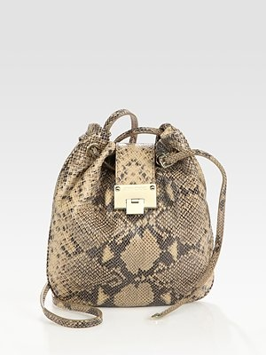 Jimmy Choo  Snake-Print Crossbody Bag
