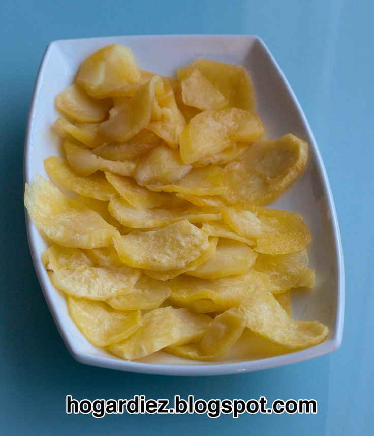 Hogar diez: Patatas fritas rápidas microondas