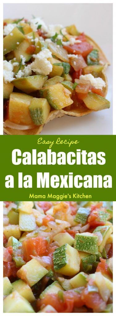 Calabacitas a la Mexicana is a yummy dish that goes perfectly on top of a tostada or as a taco filling. It is ready to be enjoyed in minutes and doesn't break the bank. Serve with refried beans and Mexican rice. by Mama Maggie's Kitchen via @maggieunz