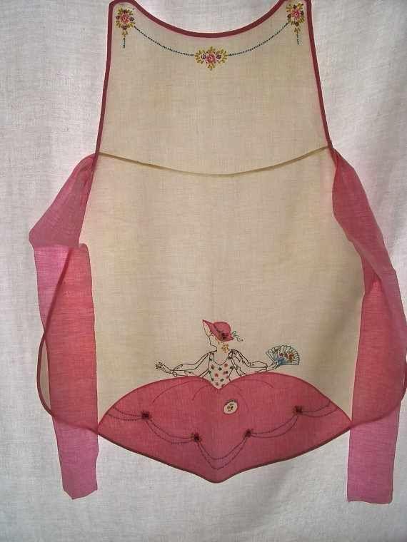 Vintage apronCushions Cut, Vintage Pink, Vintage Outfit, Pretty Aprons, Vintage Aprons, Aprons String, Vintage Diy, Vintage Style, Sewing Aprons
