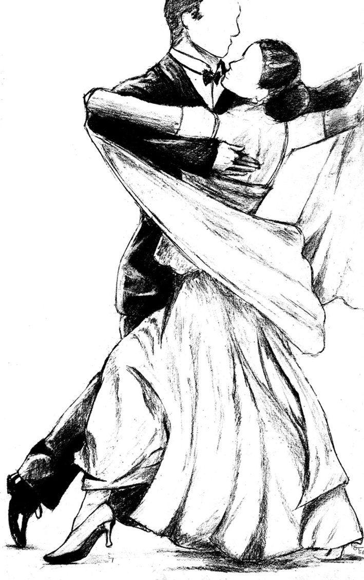 Бальные танцы картинки карандашом