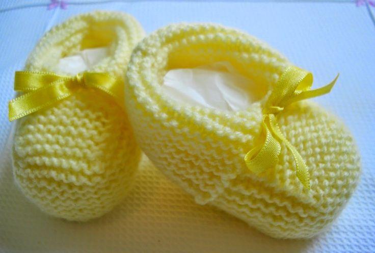 Minhas linhas e eu: Receita e passo a passo de sapatinho em tricot, para bebê