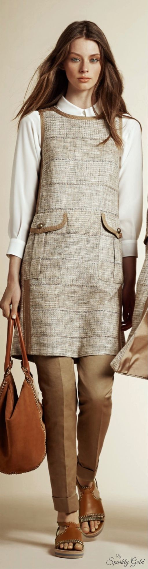 Alberta Ferretti Resort 2016 women fashion outfit clothing style apparel @roressclothes closet ideas