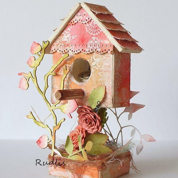 love, life and crafts Rudlis: Budka dla ptaszka