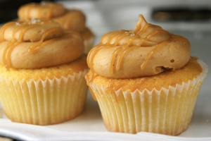 Salted Caramel Cupcakes. Stupidly good from Sweet Crumble in Malvern