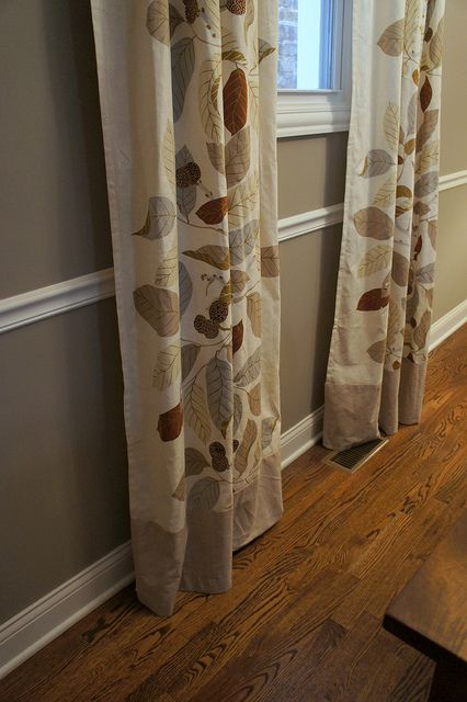 How to Lengthen Curtains by TheHumbleNest...brown for the living room so they touch the floor.