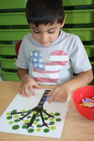 A Vowel Tree helps children develop the pre-reading skill, word blends.