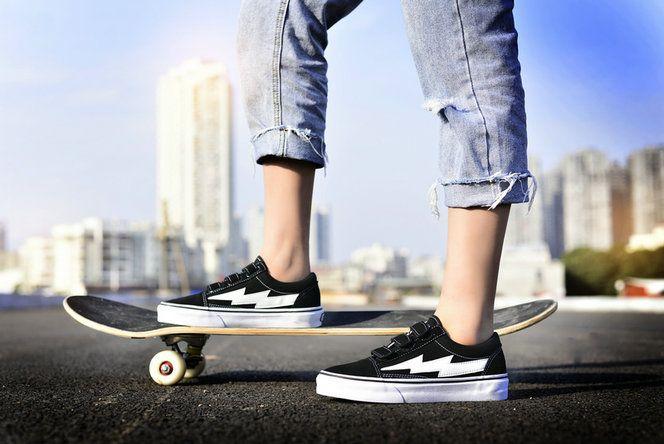 9312a095a76 REVENGE x STORM Vans Classic Old Skool Black White Skate Shoe amazon  Recommend Vans For Sale #Vans