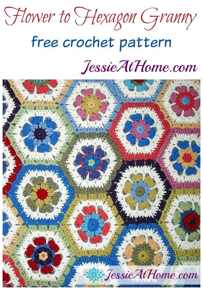 Crochet Pattern Baby Blanket Hexagon Flower Large Afghan