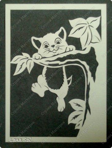 Картина панно рисунок Вырезание Шалунишка Бумага