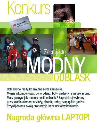 Rozpoczęcie konkursu MODNY ODBLASK na projekt z użyciem odblasku