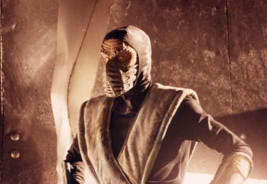 Andy Sinclair As Reptile from Mortal Kombat for a television advert for the second video game