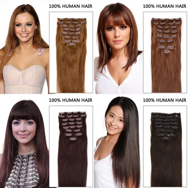 Have you ever bothered by your thin and short hair? Don't worry, hair extension can help you change a style in one minute.Easy wear without any damage to u.