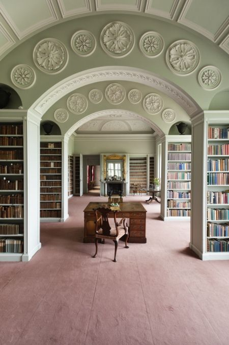 Book room by Sir John Soane at Wimpole, probably one of the most calming and lovely rooms in the house.