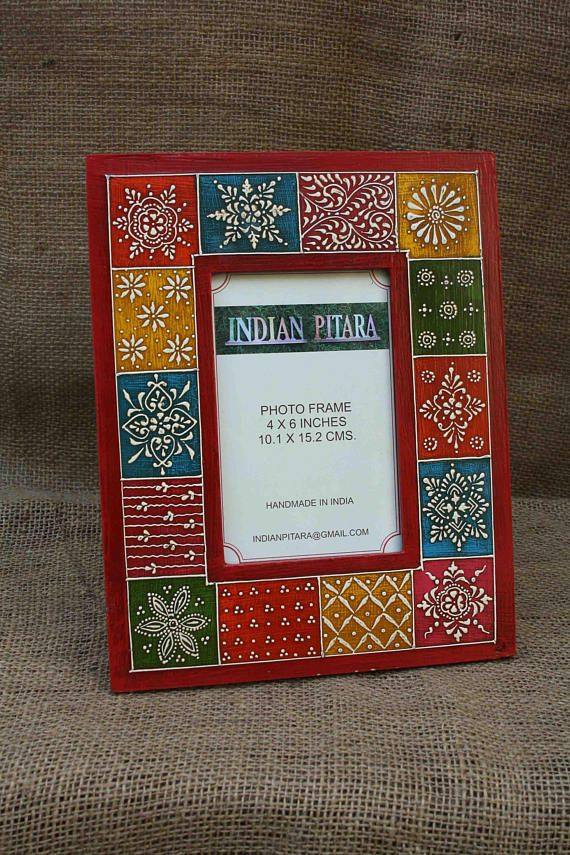 Wood Photo Frame Handmade Frame Hand Painted Frame Indian