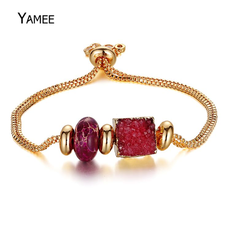 Find More Charm Bracelets Information about Fashion Red Square Natural Druzy Stones Sea Sediment Imperial Jaspers Gold Plating Box Chain Bracelet For Women Charm Jewelry,High Quality bracelets for,China chain bracelet Suppliers, Cheap bracelets for women from Juliana Handmade Store on Aliexpress.com