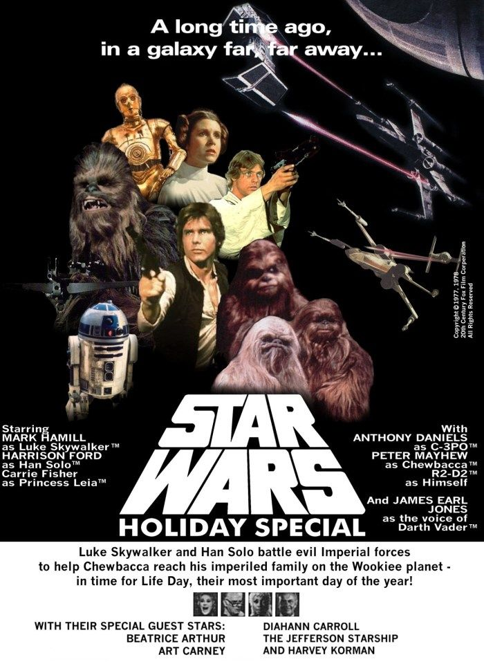 If you're looking for a quirky new tradition go ahead and pop some corn, mix up some hot chocolate and celebrate with The Star Wars Holiday Special!
