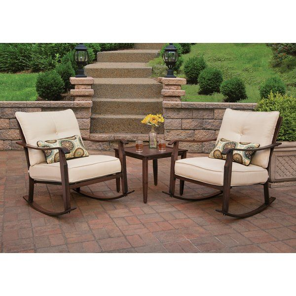 Scottsdale 3 Piece Dining Set With Cushions Outdoor Sofa Sets 3