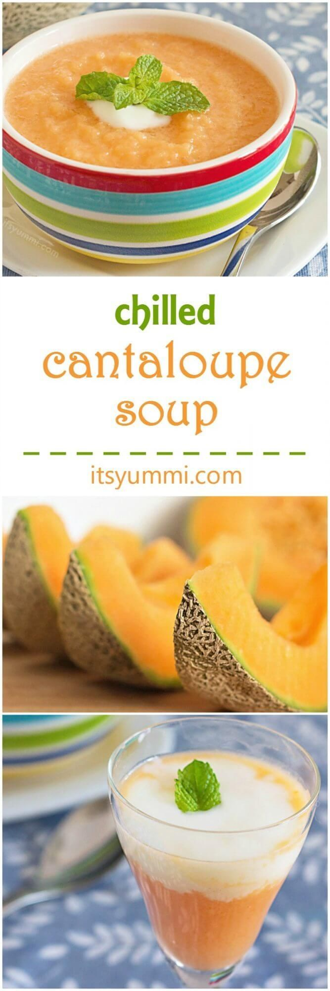 Stay cool this summer with this chilled cantaloupe soup recipe! Featuring Greek yogurt, cantaloupe, mango, ginger, and mint. it's a healthy lunch…