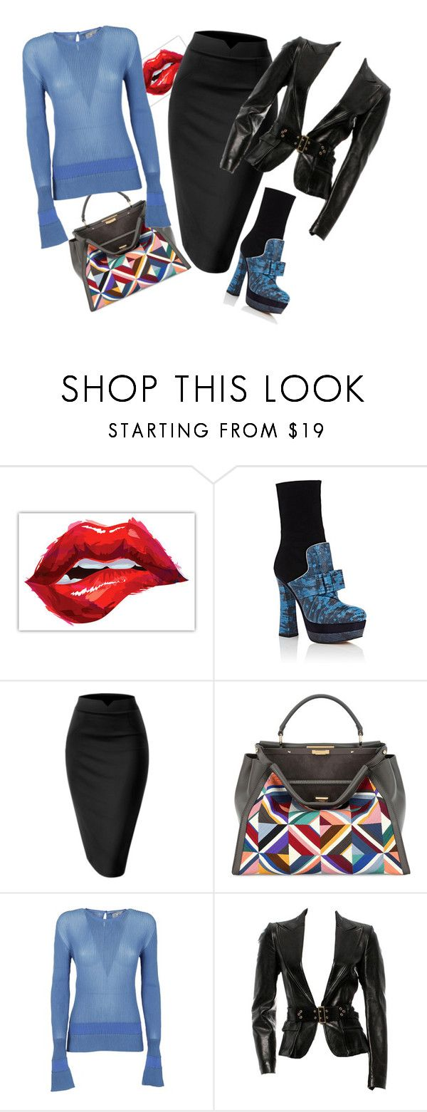 """""""Untitled #450"""" by jo-anna-jarvis ❤ liked on Polyvore featuring Miu Miu, Fendi, Marco de Vincenzo and Gucci"""