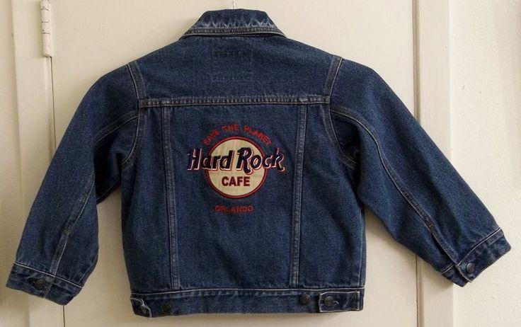 Hard Rock Cafe Orlando Embroidered Denim Jacket Child's M Medium Size #HardRockCafe