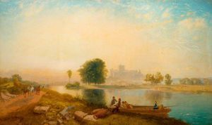 Windsor Castle, Morning - (James Baker Pyne)