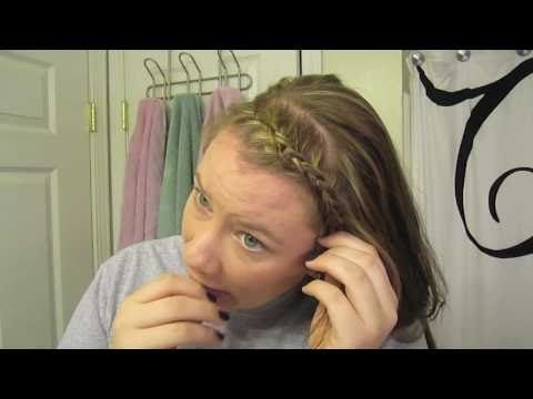How To: French Braiding your Bangs - YouTube