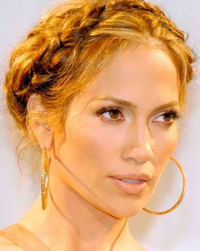 Jennifer Lopez Wrap Around Braid