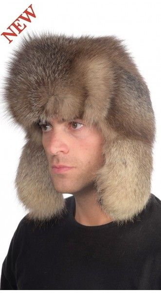 Latest Fashion for Men's Fur Hats Check this amazing Russian Style Crystal Fox Fur Hat. This stylish fashion hat is soft, warm and high quality material. Buy it from here with a discount 15%, don't forget to use coupon code 1515