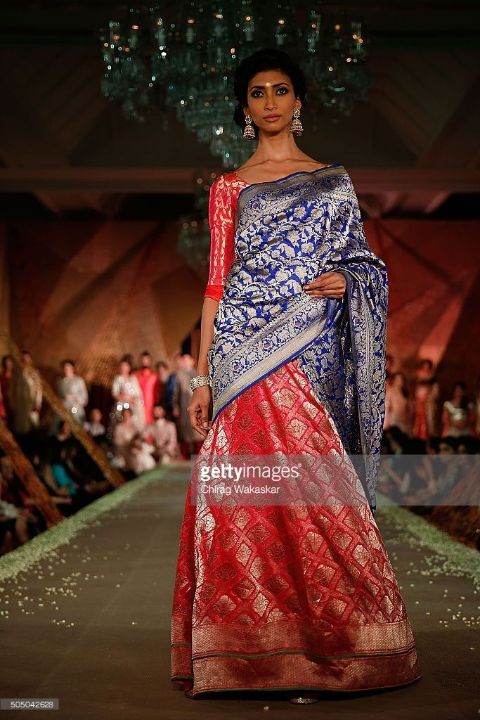 A model walks the runway at Regal Threads Fashion Show By Manish Malhotra at Trident Hotel on January 14, 2016 in Mumbai, India.