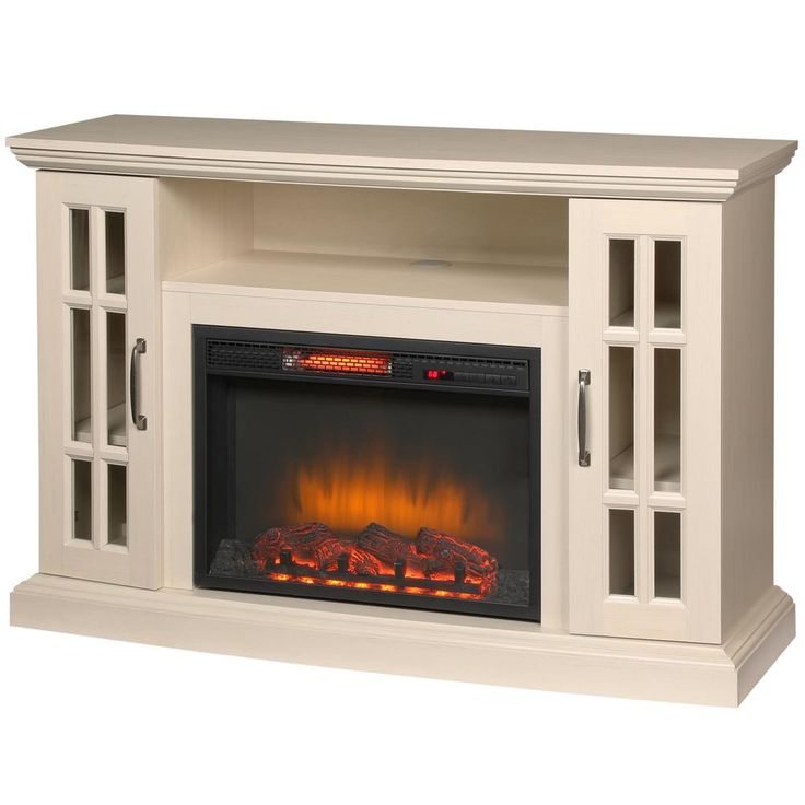Home Decorators Collection Edenfield 59 In Freestanding Infrared Electric Fireplace Tv Stand In Aged White 365 302 165 Y The Home Depot Electric Fireplace Tv Stand Fireplace Tv Stand Fireplace Tv