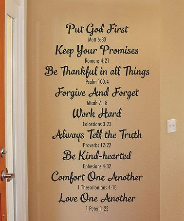 Look at this #zulilyfind! Bible Family Rules Wall Quotes™ Decal #zulilyfinds