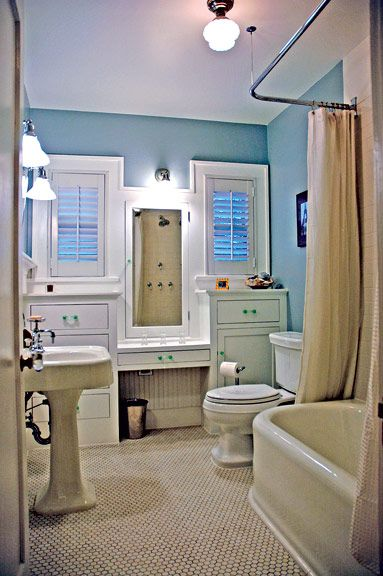 17 best images about bathrooms on pinterest for Californian bungalow bathroom ideas