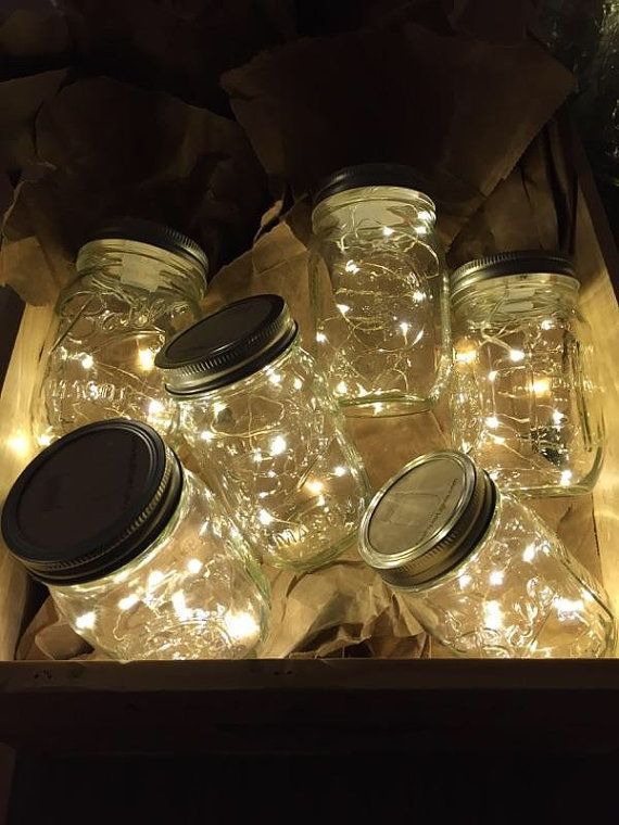 **Free Shipping in US**  *Warm light LED lights *Ball Mason Jar included! Comes fully assembled and done by hand individually for each order!