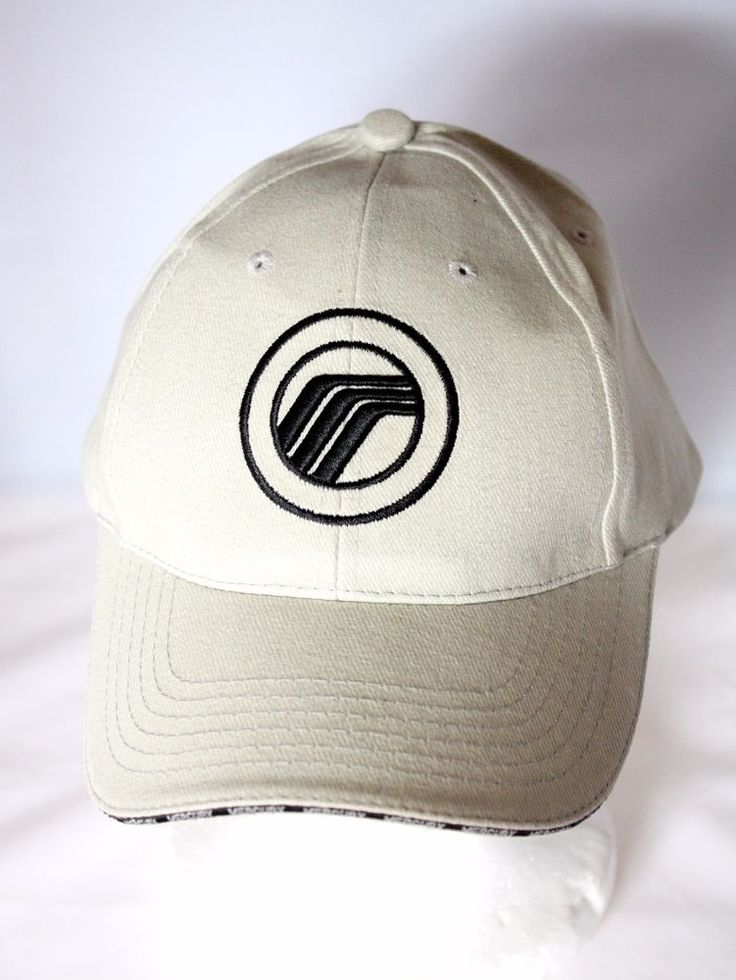 Ford Mercury Car Logo Gray Baseball Cap Hat Embroidered Adjustable 100% Cotton