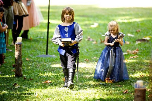 Kara & Gary's fantasy fairy tale heavy metal wedding | Offbeat Bride