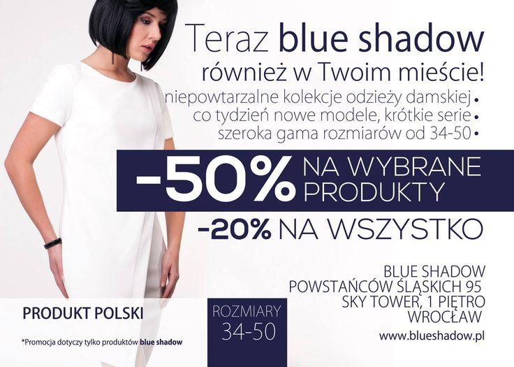 Wielkie otwarcie Blue Shadow w Sky Tower Jutro Sky Tower Galeria Handlowa w mieście Wrocław Bądź pierwszą osobą, która dołączy do wydarzenia  https://www.facebook.com/events/300004116877119/