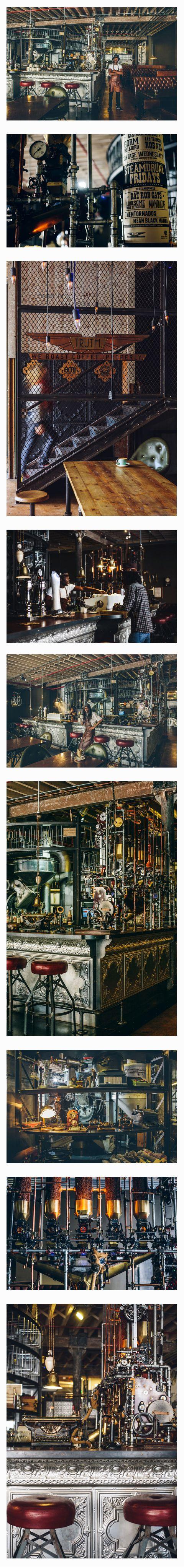 驚くほど完成度の高いスチームパンクなコーヒーショップ TRUTH Coffee Shop In Cape Town, South Africa                                                                                                                                                                                 もっと見る