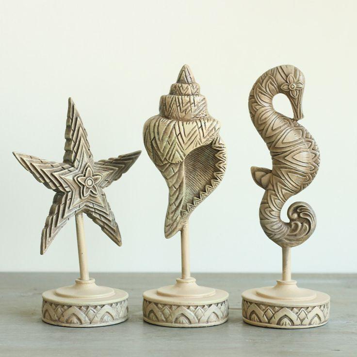Американский кантри Средиземноморский стиль декора Дома Мебель ретро украшения дома украшения три комплекта морской