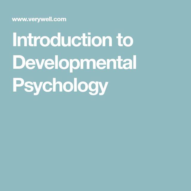 introduction to developmental psychology pdf