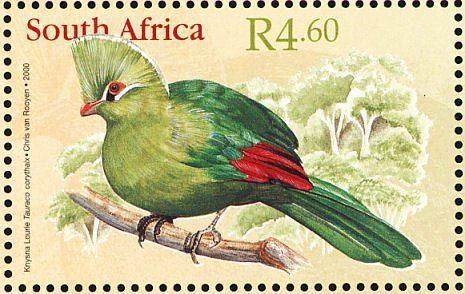 Stamp: Knysna Turaco (Tauraco corythaix) (South Africa) (Philately) Mi:ZA 1247 #Phelately