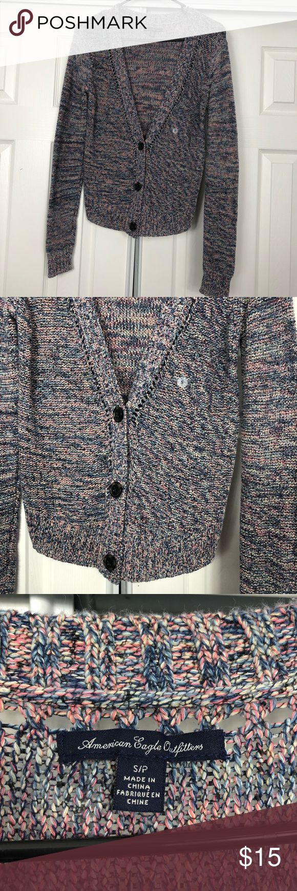 American Eagle Knit Sweater Cardigan Size Small New With