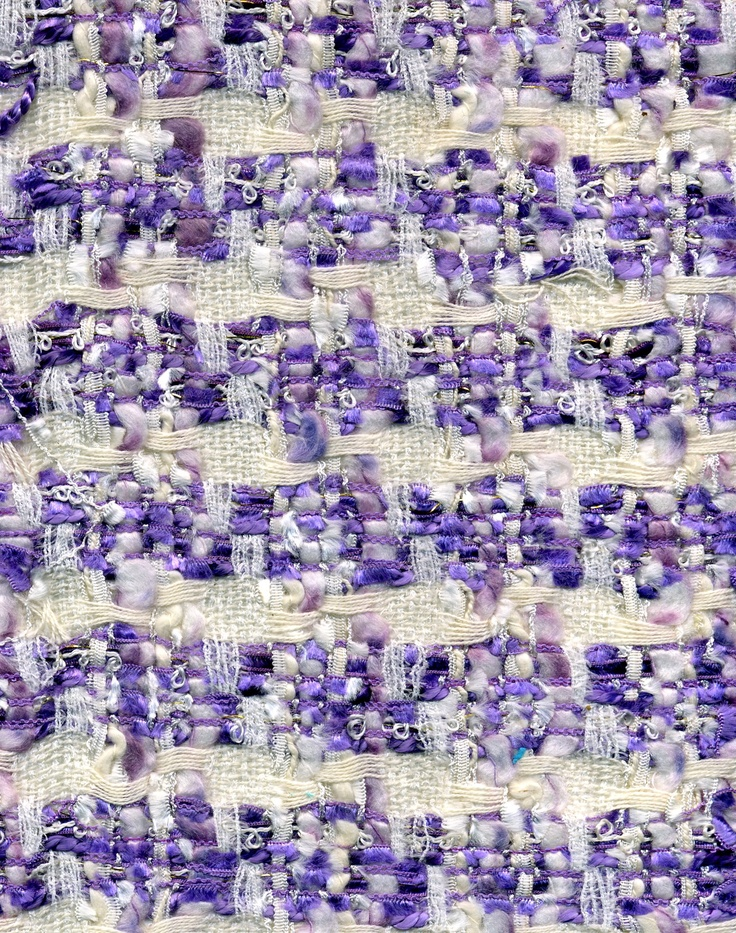 Lilac Linton weave fabric silk and wool