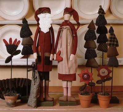 !!!!♥ Feltro-Aholic ♥ Moldes e pap em feltro e feltro estampado!: Bonecos Tilda para o Natal - Molde