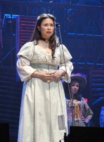 Lea Solanga as Fantine in the 25th anniversary of Les Mis