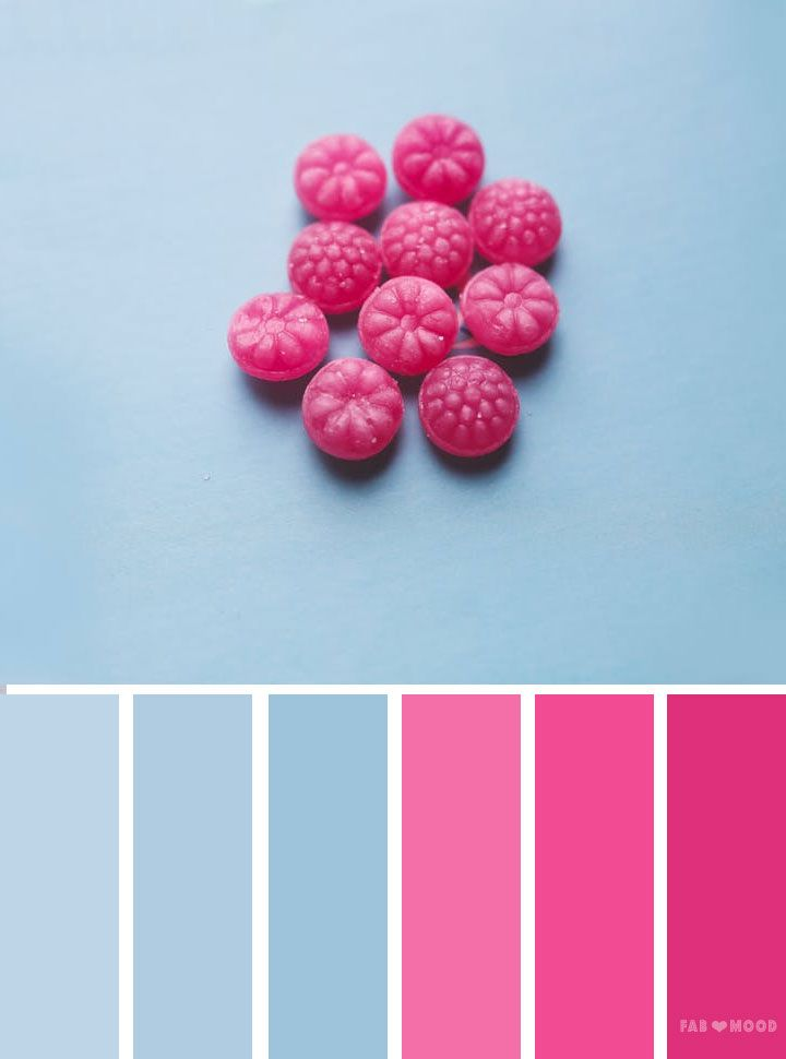 At Fab Mood You Will Find 1000s Of Beautiful Color Palette Inspired By Nature Landscape Food Season Blue And Pink