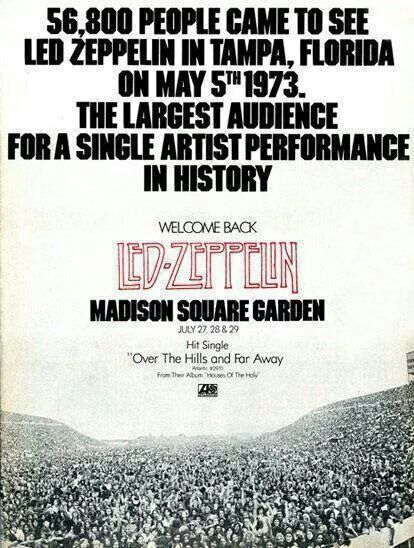 17 best images about led zeppelin on pinterest jethro tull madison square garden and jimmy page for Led zeppelin madison square garden