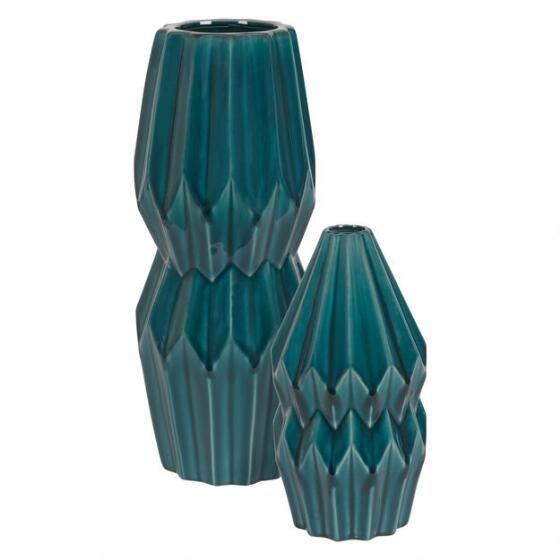Elletra Vase Low Spruce
