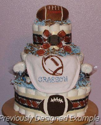 Football-Diaper-Cake.JPG - Football Diaper Cake